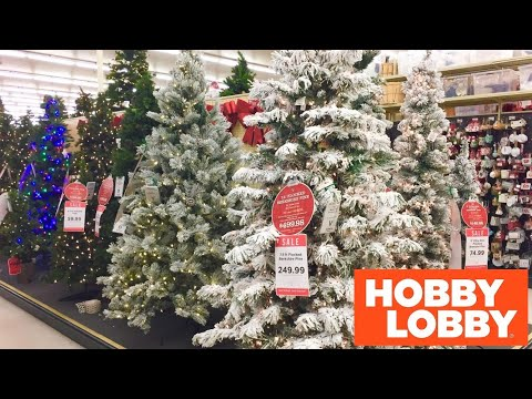 HOBBY LOBBY CHRISTMAS DECORATIONS CHRISTMAS TREES DECOR SHOP WITH ME SHOPPING STORE WALK THROUGH