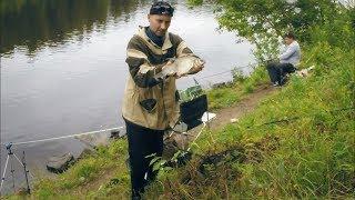 Ловля леща на фидер летом | Рыбалка на канале Москвы