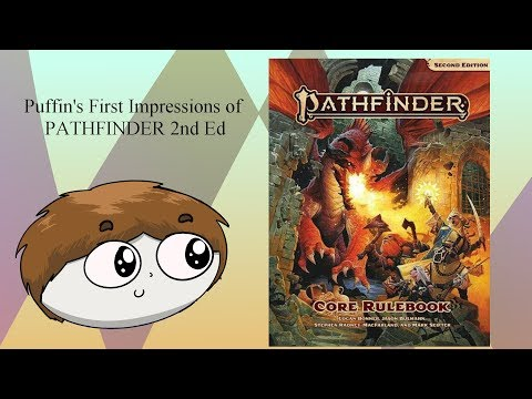 Audio only. Puffin's Pathfinder 2nd Edition First Impressions and 5th Ed D&D Design