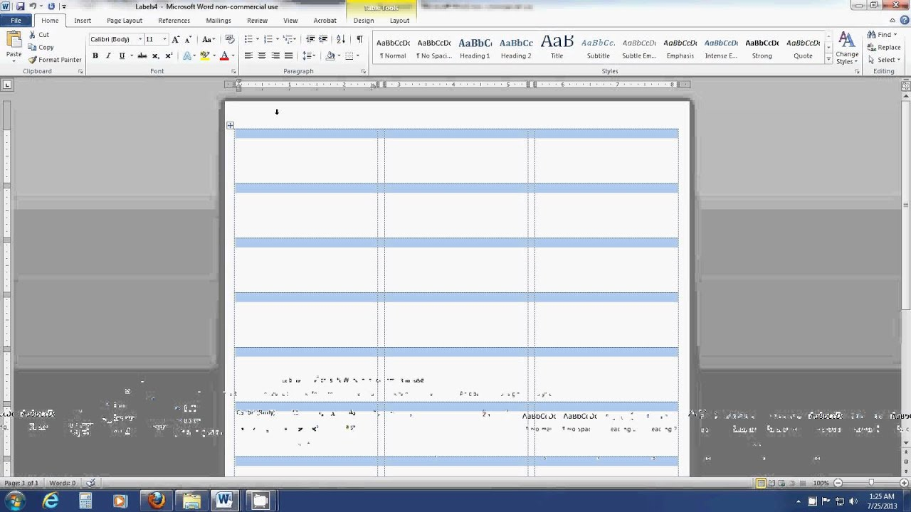 How to insert an image into a label template sheet in Word YouTube – Word Label Templates