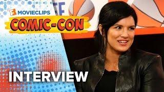 Ed Skrein & Gina Carano 'Deadpool' Exclusive Interview - Comic-Con (2015) HD