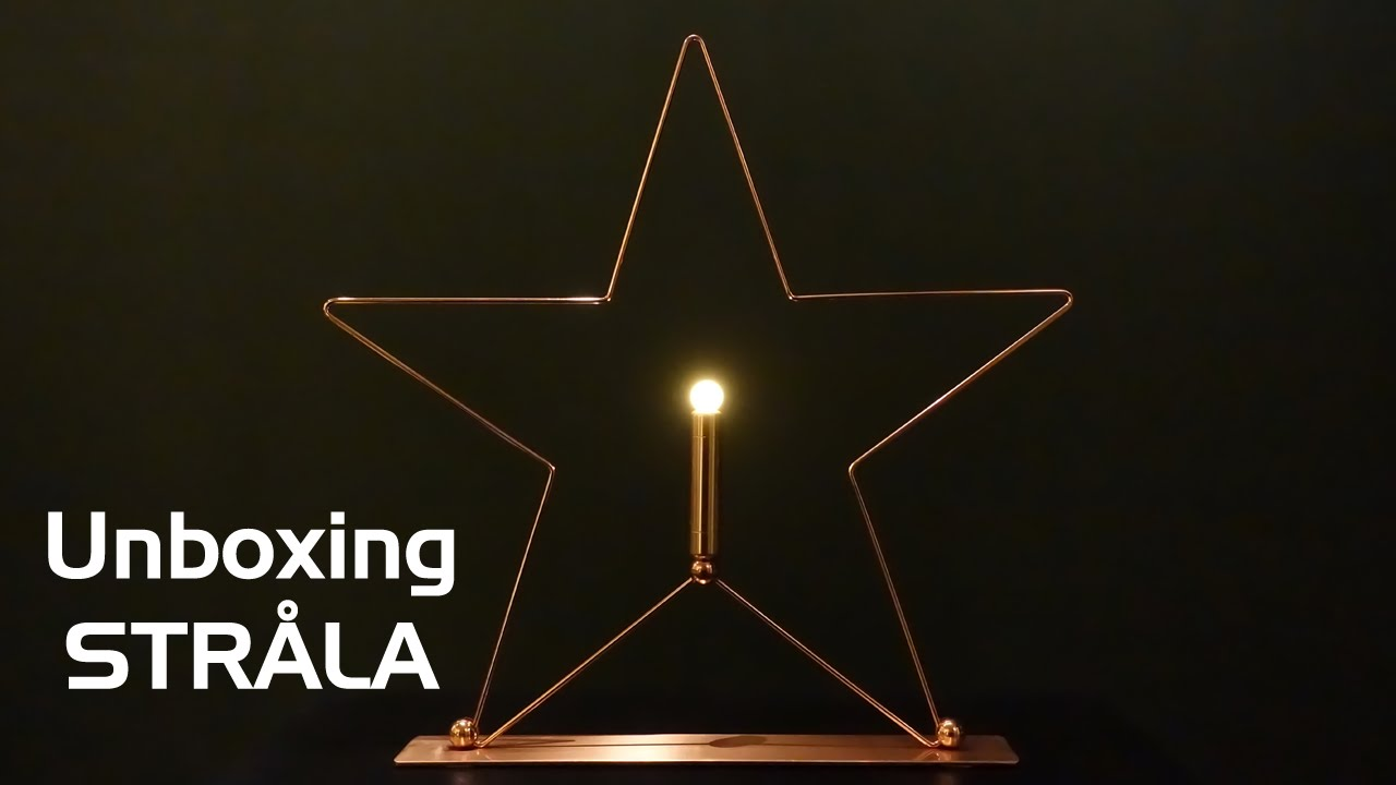 Unboxing The StrÅla Led Holiday Decoration From Ikea