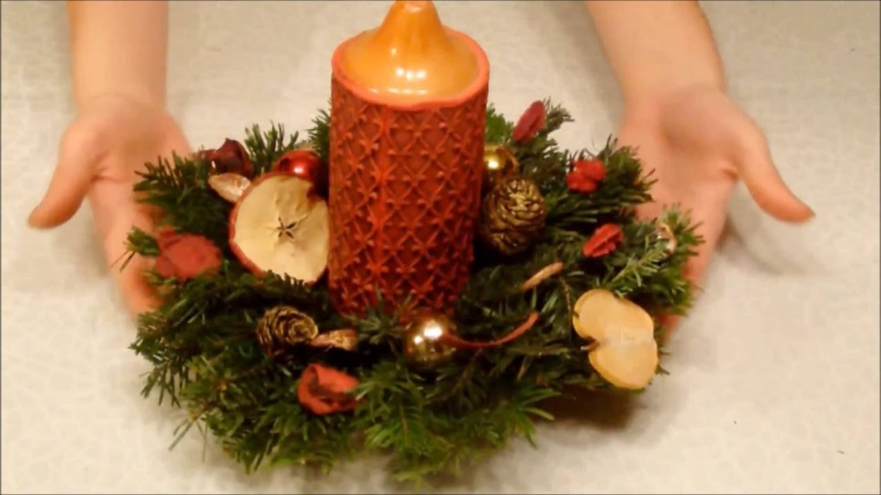 Weihnachtsgestecke selber basteln youtube for Adventsgestecke selber basteln