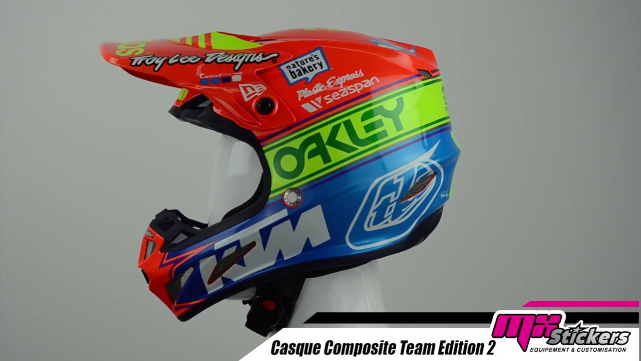 Casque Cross Troy Lee Designs Se4 Composite Team Edition 2 2019 Mx