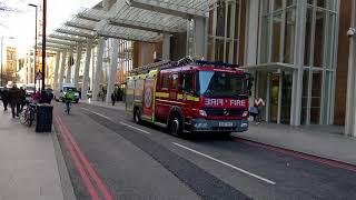 New London Bridge Station Fire Engine Responding at The Shard 2018
