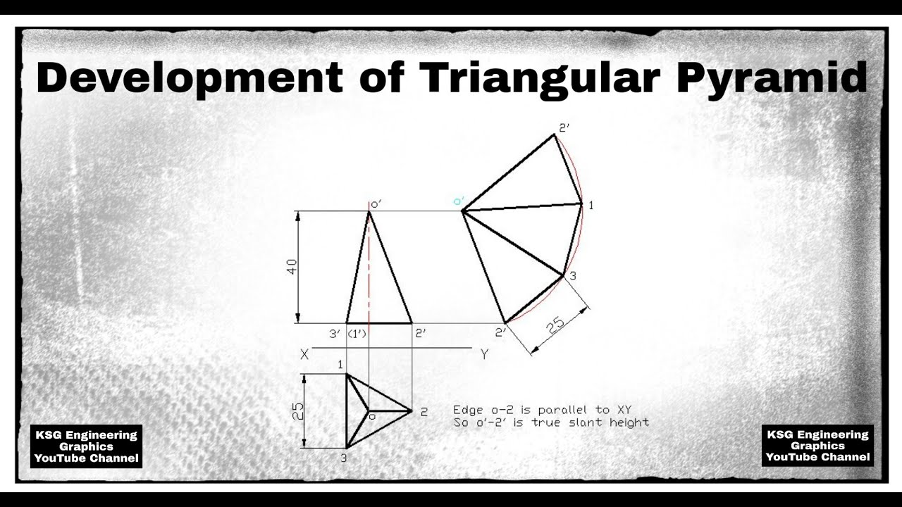 Development of triangular pyramid | Development of ...