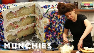 How-To Make Confetti Birthday Cake
