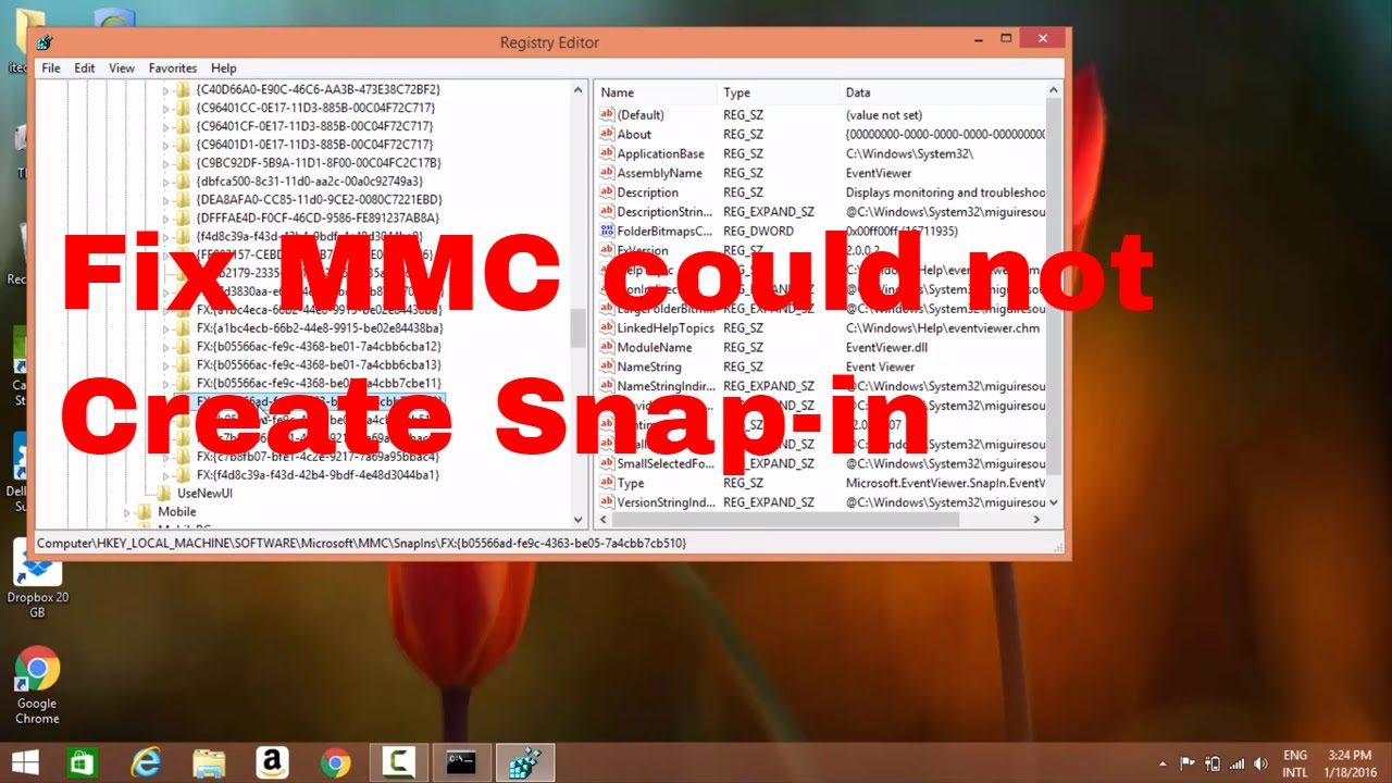 #13 How to Fix MMC could not create the Snap-in #techtip
