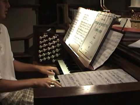 Our Organist Playing After The Fireworks
