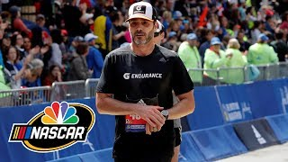 Jimmie Johnson proves athleticism in Boston Marathon | Splash & Go | NBC Sports