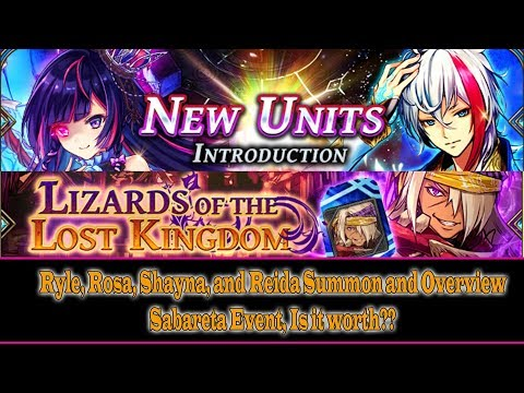 The Alchemist Code New Characters (Ryle, Reida, Rosa, and Shayna) Summon and Overview (#5)