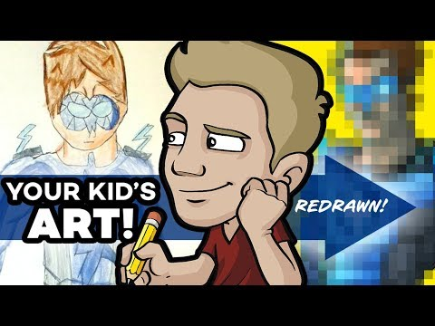 YOUR KID'S ART Drawn by a PROFESSIONAL ARTIST! - Round 3