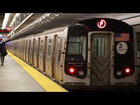 MTA NYC Subway rerouted F train leaving 72nd St