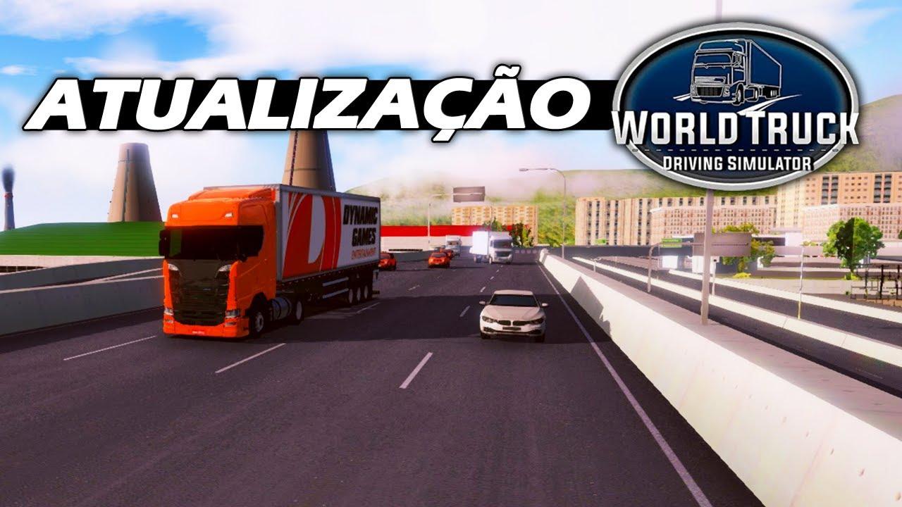 Mostrando a Atualização do World Truck Driving Simulator - Rio de Janeiro, Celular e Novos Sistemas