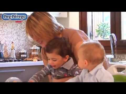 Peg Perego Rialto dining booster seat for toddlers - YouTube