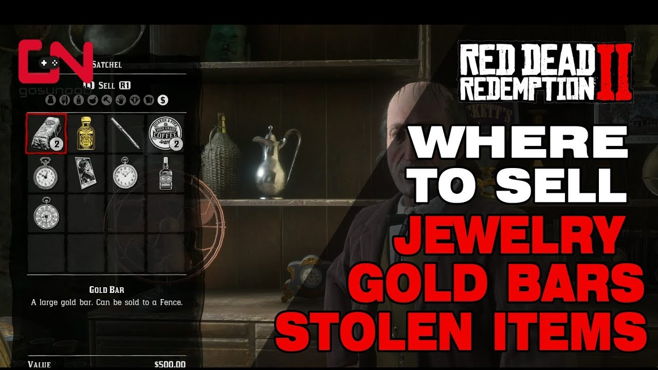 Red Dead Redemption 2 Where to Sell Jewelry, Gold Bars - Fence locations