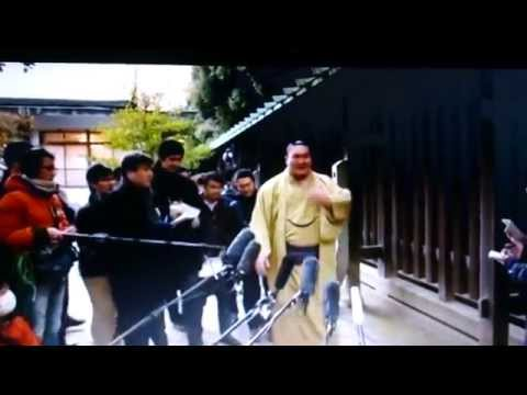 Must watch Japan's top sumo stars New Year ritual 2015