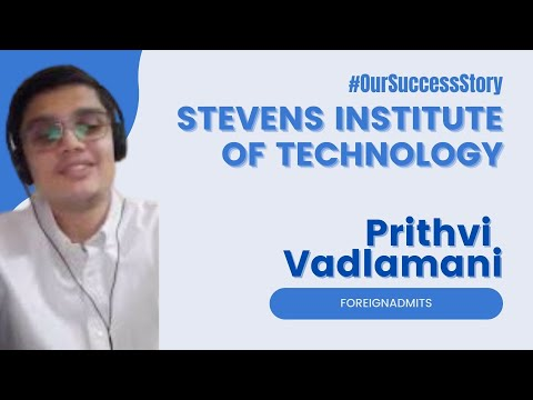 Know how Prithvi got a scholarship of $20,000 Stevens Institute of Technology   ForeignAdmits