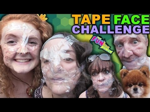 FUNkee Bunch Family Fun Tape Face Challenge! W/ Pain, Breathing Probelms, and Pure Craziness!