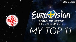 Eurovision 2016 l MY TOP 11 l So far (15/02/16)(Welcome to my Top 11 of Eurovision 2016 so far! :) ║ ALL SONGS ║ Albania: Eneda Tarifa - Përrallë Austria: Zoë - Loin d'ici Belarus: Ivan - Help you fly ..., 2016-02-15T20:13:31.000Z)