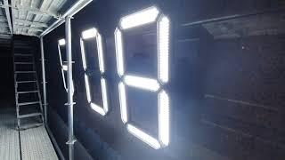 아인네트 GPSLED시계, 조명을 밝게  흐리게, 간판…