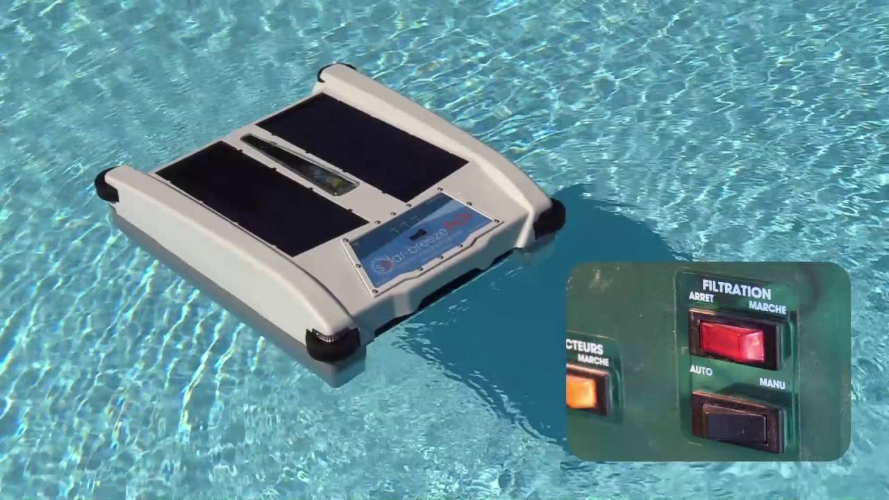 Solar Breeze Nx Solar Powered Floating Skimmer Youtube