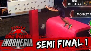 Muhammad Anugrah Ternyata Gagal Di Monkey Peg [Sasuke Ninja Warrior Indonesia]  [3 April 2016]