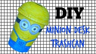 DIY minion desk trashcan