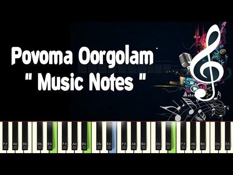 Povoma Oorgolam (chinna thambi) Piano Notes, Midi File, Music Sheet & Karaoke