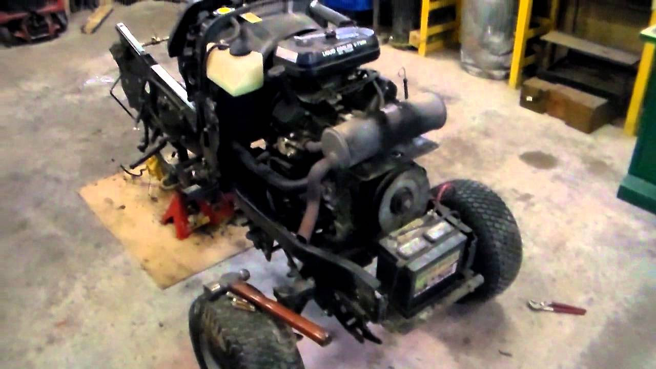 Toro wheel horse 520LXI hood removal/update part 5