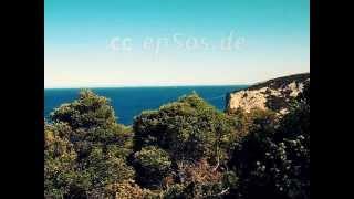 Blue Mediterranean Sea in Sardinia Island of Italy