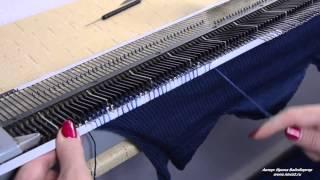 Как вязать  мех  на вязальной машине Нева 2