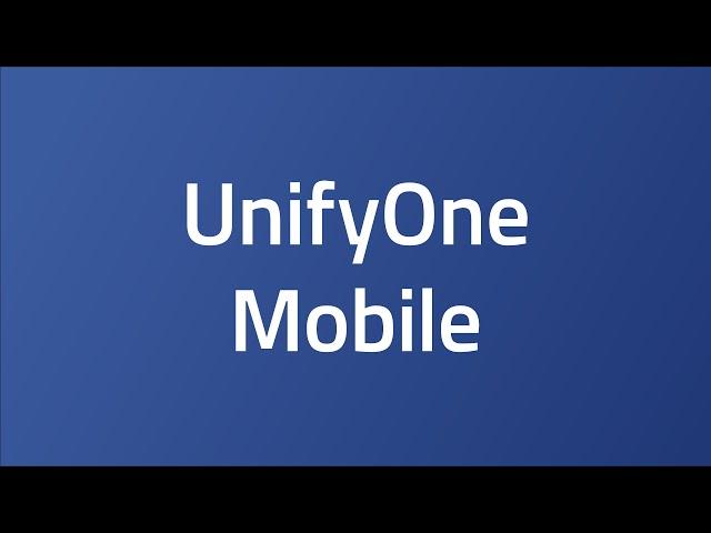 UnifyOne Mobile
