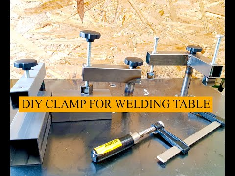 Weld table clamps for under 3 Dollars. Do it yourself project by using MIG WELDING