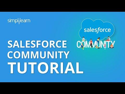 Salesforce Community Tutorial | Salesforce Training Videos For Beginners | Simplilearn