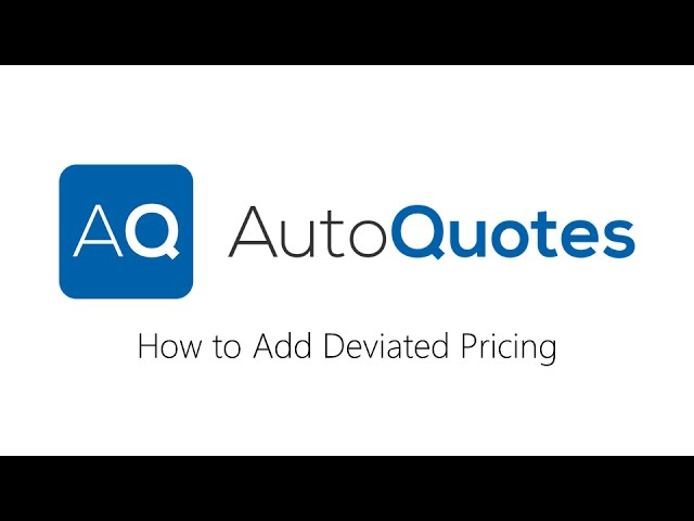 How to add Deviated Pricing in AQ