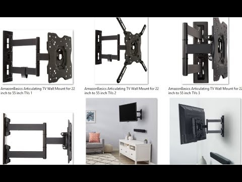 AmazonBasics Articulating TV Wall Mount for 22 inch to 55 inch TVs
