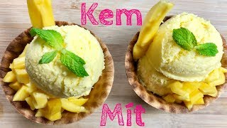 Cách Làm KEM MÍT- How To Make Jackfruit Ice Cream w/ 3 Ingredients
