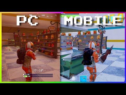 Fortnite Mobile VS Fortnite (PC, PS4, XBOX) Graphics Comparison