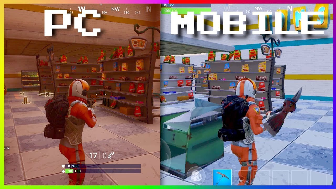 Fortnite Mobile Vs Fortnite Pc Ps4 Xbox Graphics