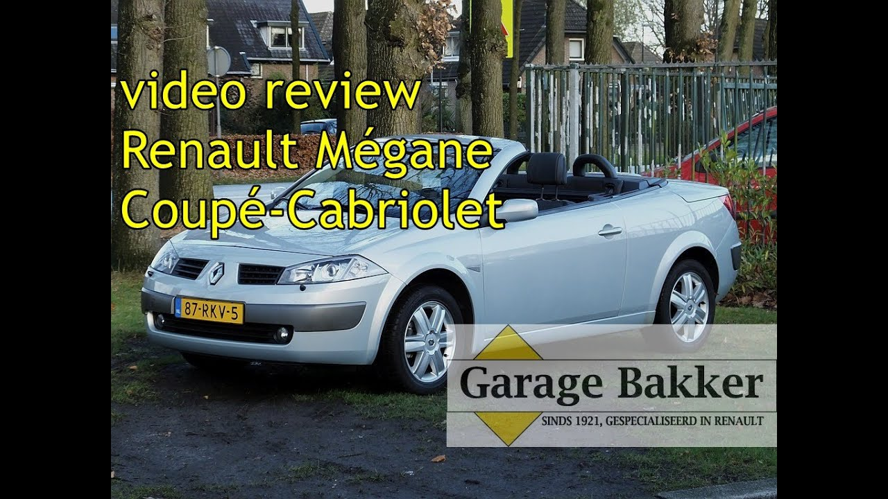 Video review renault m gane coup cabriolet 2 0 16v dynamique luxe 2004 87 rkv 5 youtube