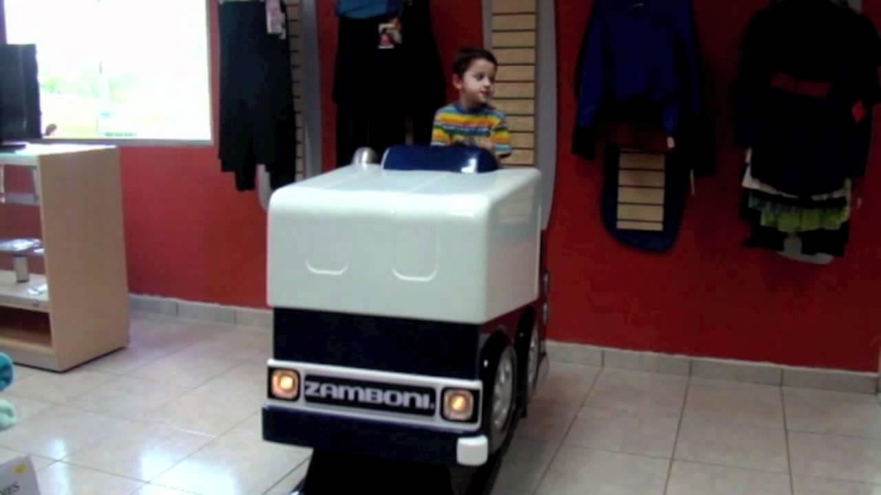 Man Cave Jumbotron : Zamboni kiddie ride blue youtube