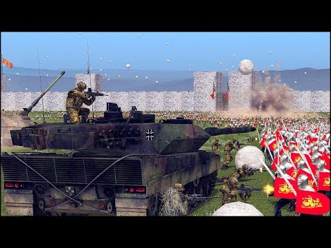 MEDIEVAL Vs MODERN TROOPS - FORTRESS SIEGE