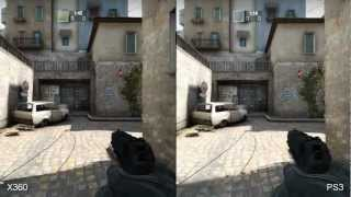 Counter-Strike: Global Offensive (CS:GO) Xbox 360/PS3/PC Comparison HD