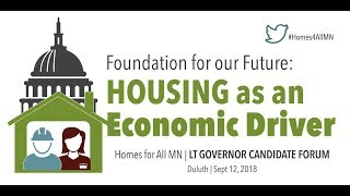 MN Lt. Governor Candidates Debate On Housing Issues