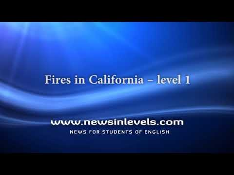 Fires in California – level 1