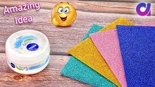 Best out of waste empty Cream Box & foam sheet diy crafts ideas | Project ideas | Artkala