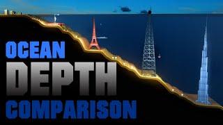 Ocean DEPTH Comparison  (3D Animation)