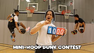 INSANE Mini-Hoop Dunk Contest!!