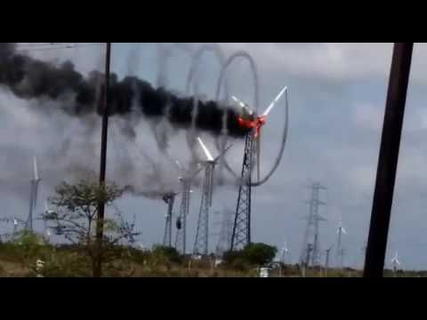 The Mesmerizing Math of a Wind Turbine on Fire
